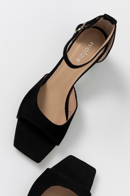 negru Wojas - Sandale din piele intoarsa