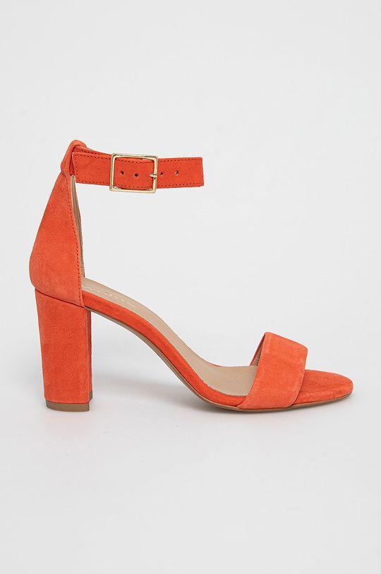 koralová Wojas - Semišové sandále Dámsky