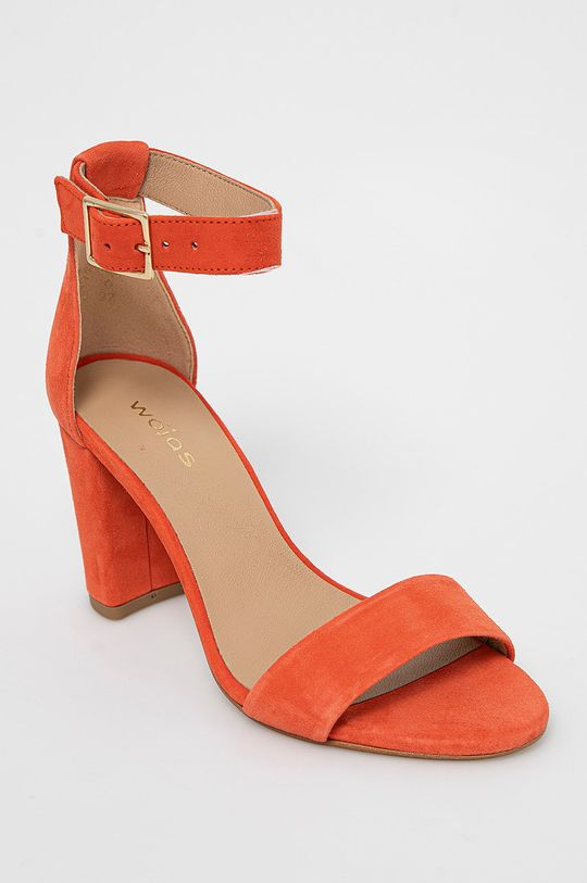 Wojas - Semišové sandále koralová