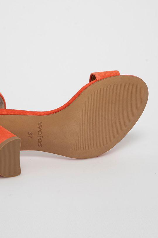 koralová Wojas - Semišové sandále
