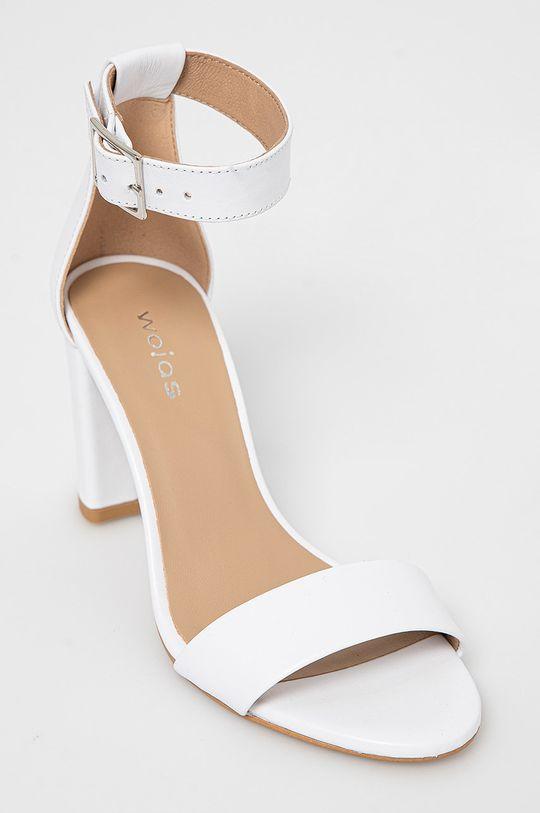 Wojas - Kožené sandále biela