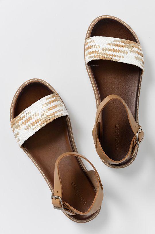 beżowy Wojas - Sandały