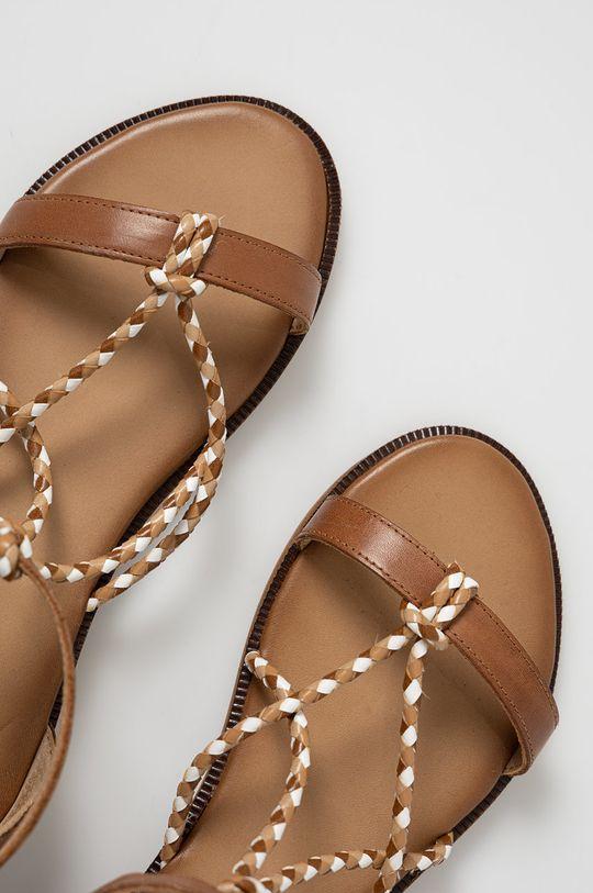 Wojas - Kožené sandály hnědá