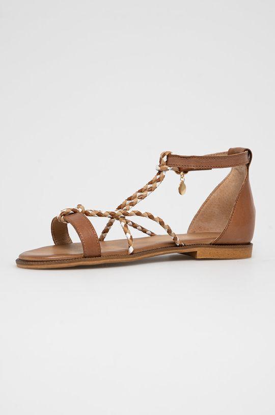 hnědá Wojas - Kožené sandály