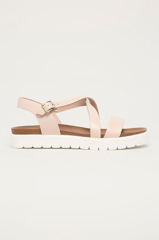ružová Wojas - Kožené sandále Dámsky