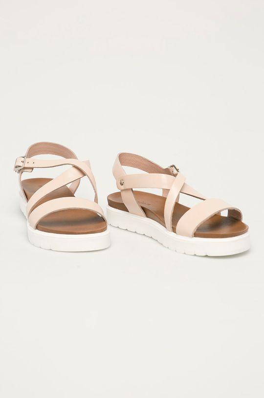 Wojas - Kožené sandále ružová