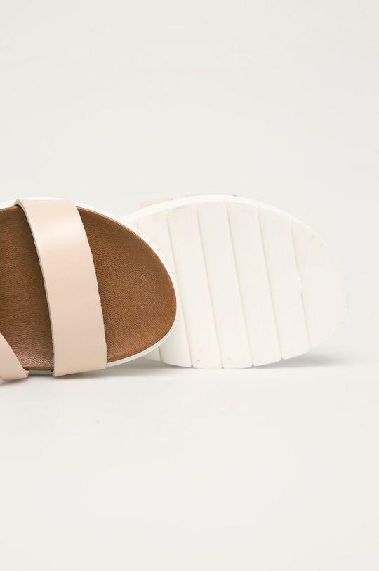ružová Wojas - Kožené sandále