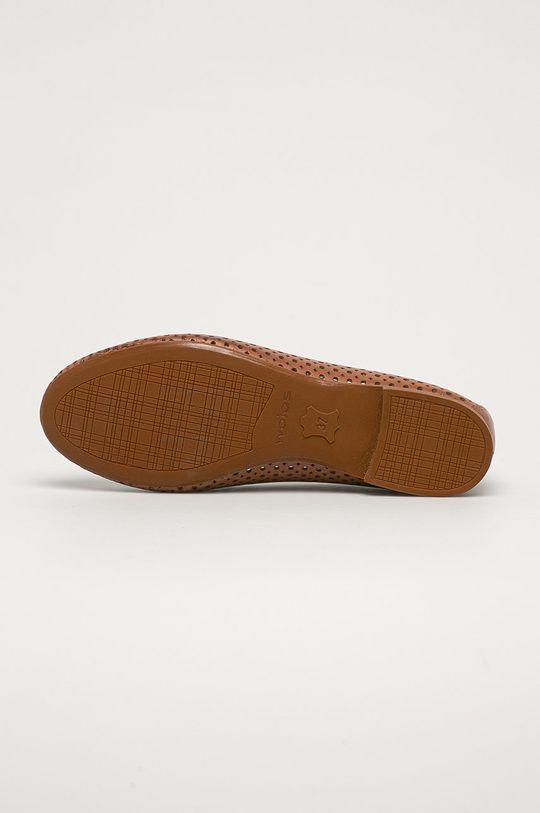 brązowy Wojas - Baleriny skórzane