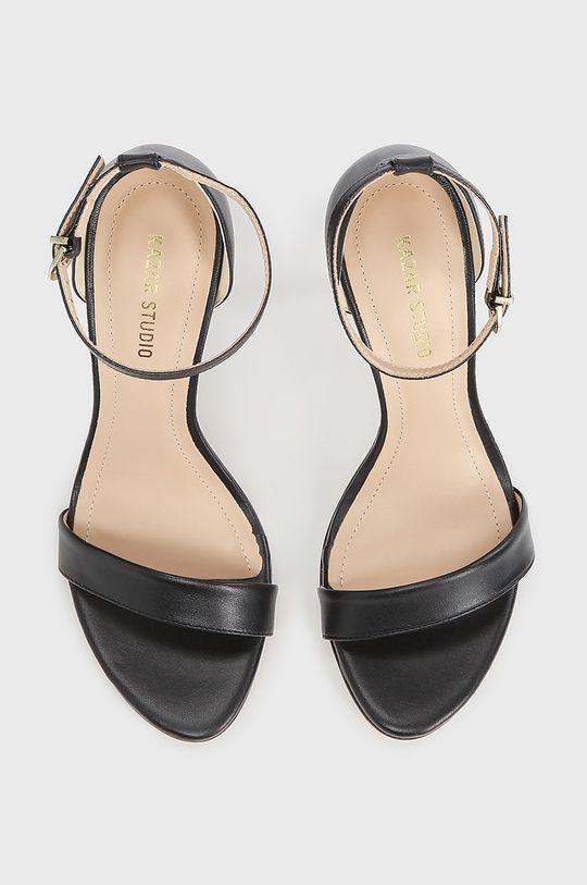 čierna Kazar Studio - Kožené sandále