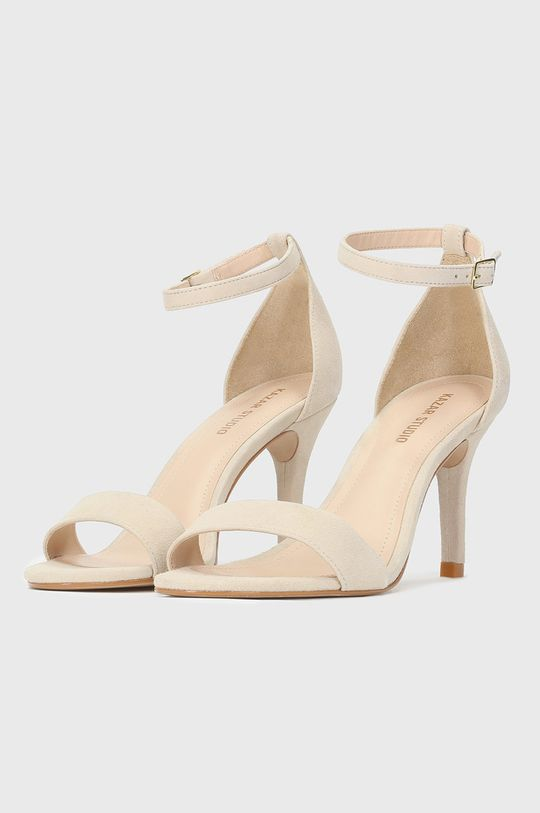Kazar Studio - Semišové sandále béžová