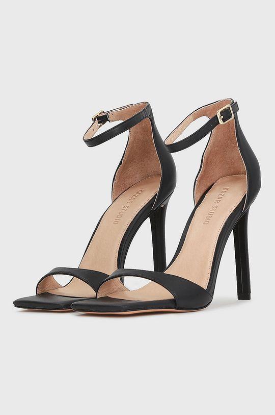 Kazar Studio - Kožené sandále čierna