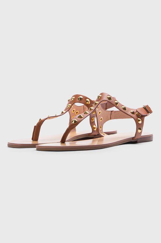 Kazar Studio - Kožené sandále zlatohnedá