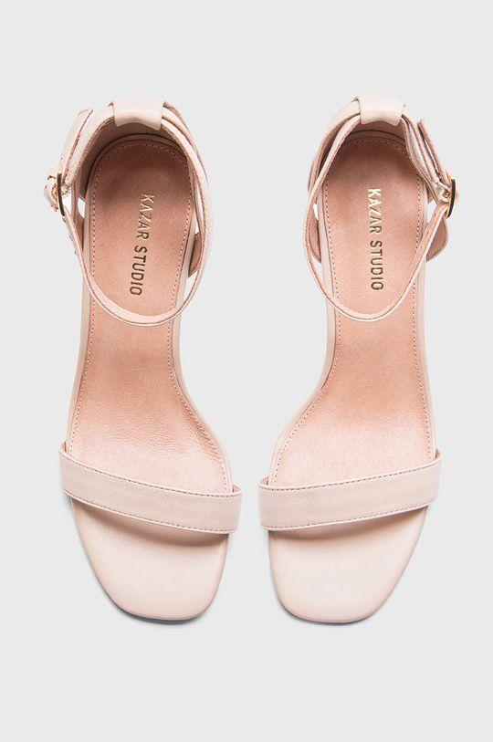 pastelowy różowy Kazar Studio - Sandały skórzane