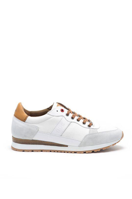 bílá GOE - Kožené boty Pánský