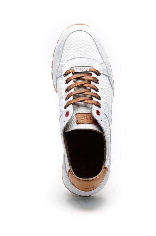 bílá GOE - Kožené boty