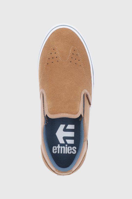 hnědá Etnies - Kožené tenisky Marana