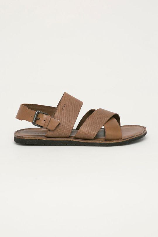 hnedá Wojas - Kožené sandále Pánsky