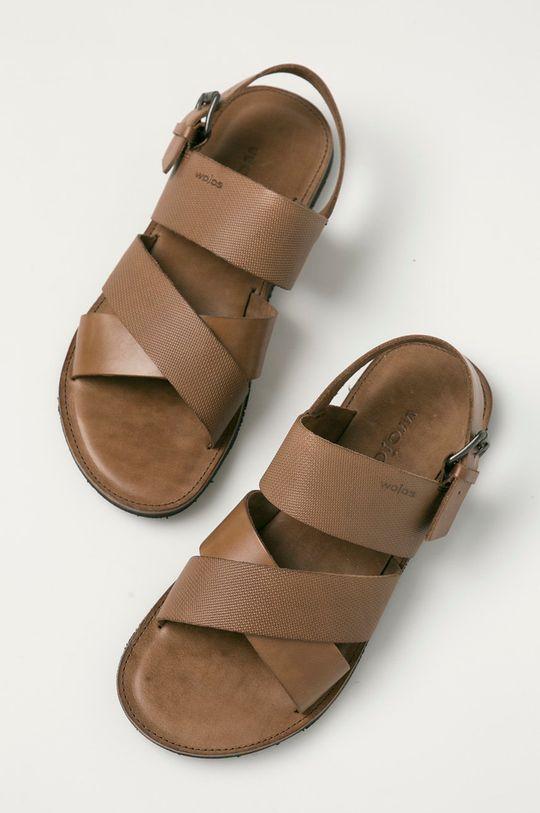 Wojas - Kožené sandále hnedá