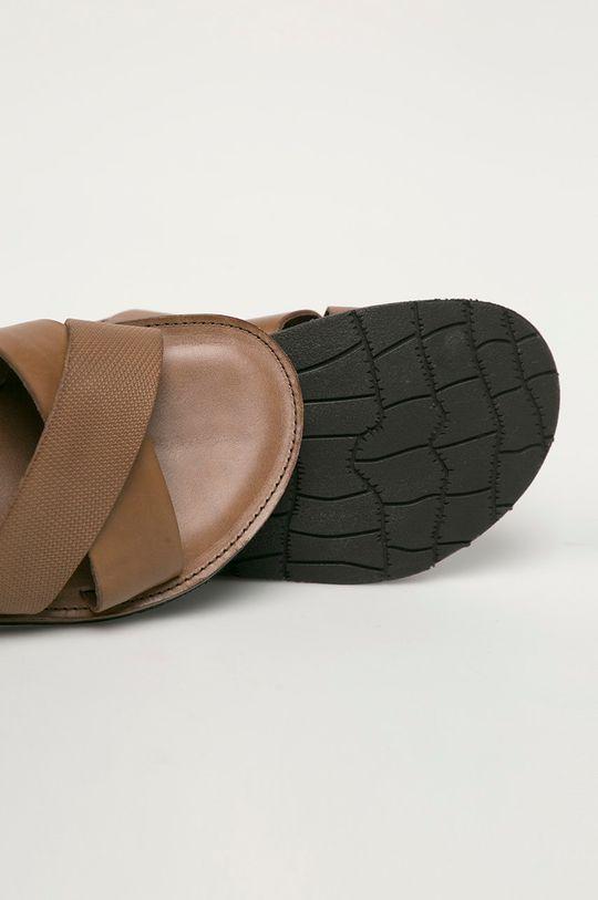 hnedá Wojas - Kožené sandále