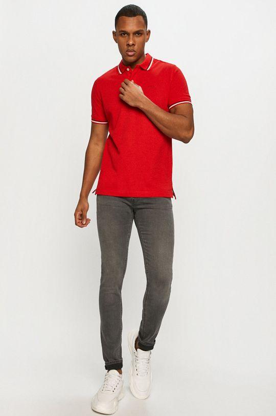 Geox - Tricou Polo rosu ascutit