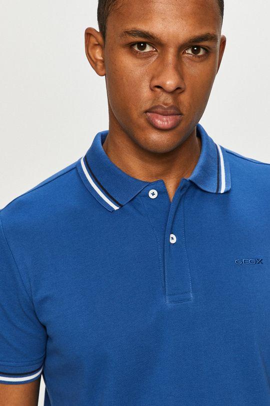 albastru Geox - Tricou Polo De bărbați