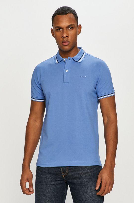 morská modrá Geox - Polo tričko Pánsky