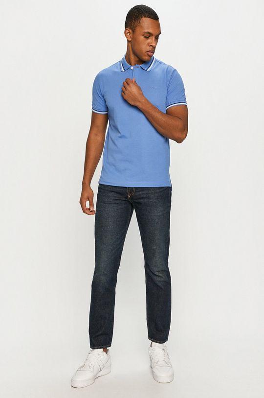 Geox - Polo tričko morská modrá