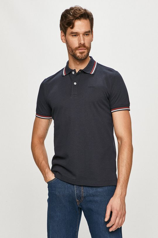 tmavomodrá Geox - Polo tričko Pánsky