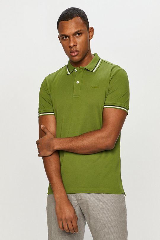hnedozelená Geox - Polo tričko Pánsky