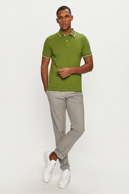 Geox - Polo tričko hnedozelená
