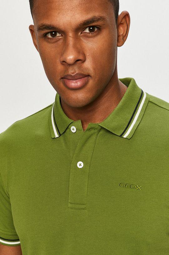 hnedozelená Geox - Polo tričko