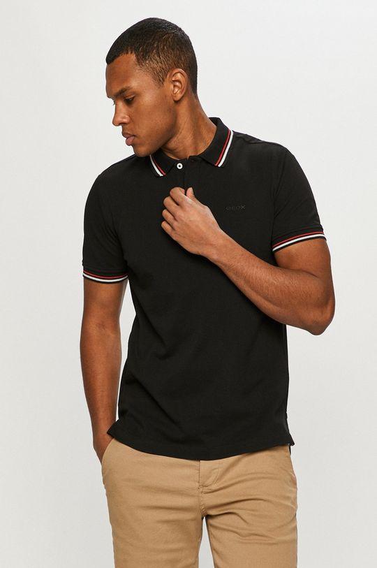 negru Geox - Tricou Polo De bărbați