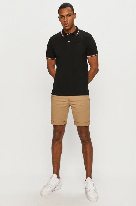 Geox - Tricou Polo negru