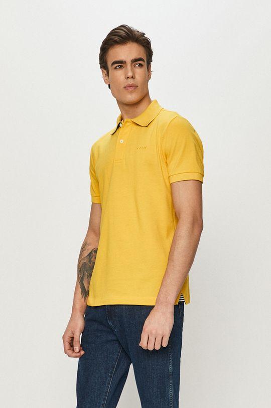 horčicová Geox - Polo tričko Pánsky