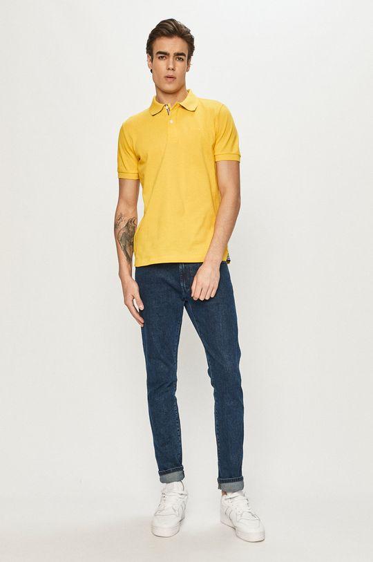 Geox - Polo tričko horčicová