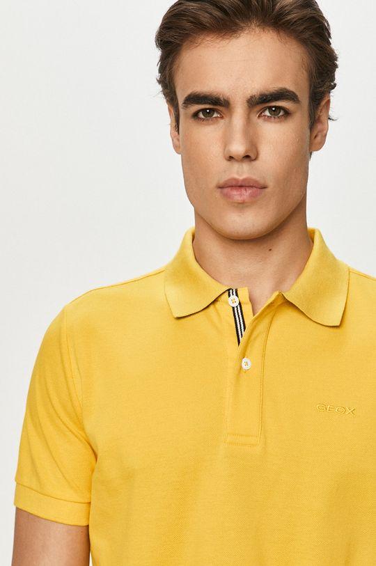 horčicová Geox - Polo tričko