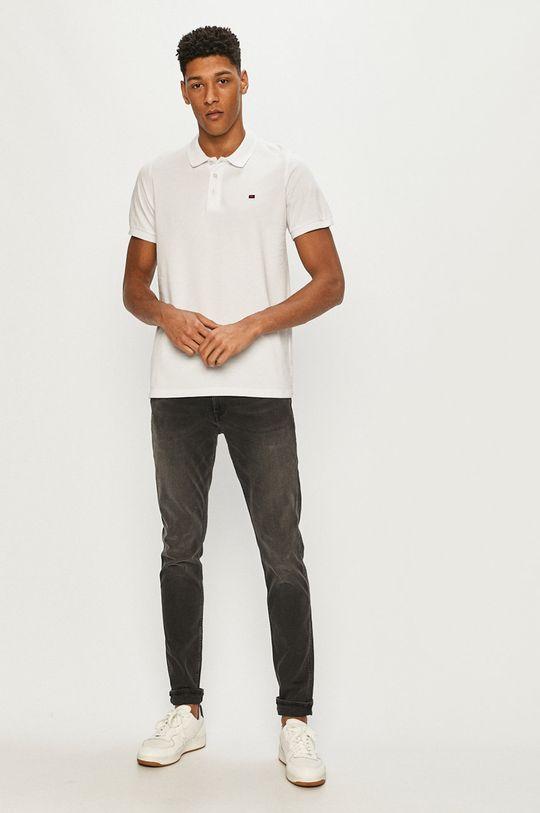 Cross Jeans - Polo tričko bílá