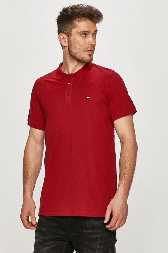kaštanová Cross Jeans - Polo tričko Pánský