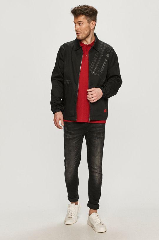 Cross Jeans - Polo tričko kaštanová
