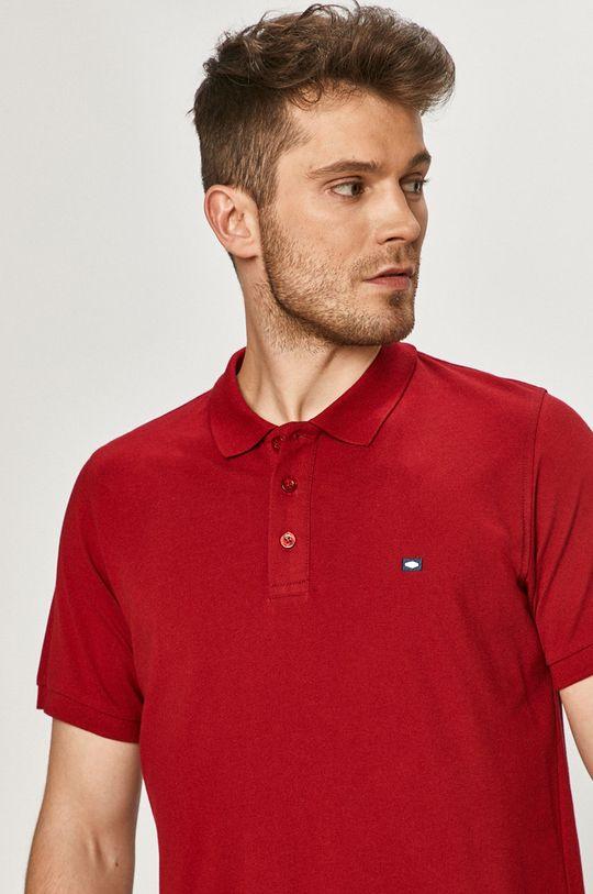 kaštanová Cross Jeans - Polo tričko