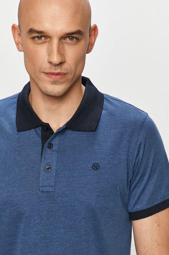 oceľová modrá Cross Jeans - Polo tričko Pánsky