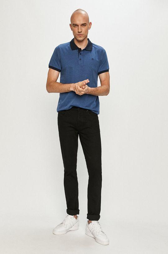 Cross Jeans - Polo tričko oceľová modrá
