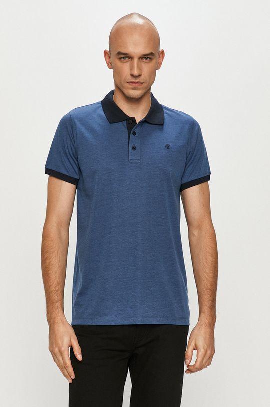 oceľová modrá Cross Jeans - Polo tričko