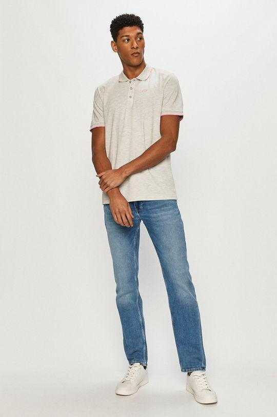 Cross Jeans - Polo jasny szary