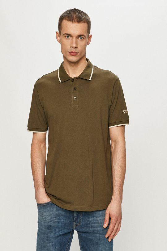 olivová Cross Jeans - Polo tričko Pánský