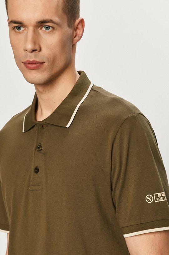 olivová Cross Jeans - Polo tričko