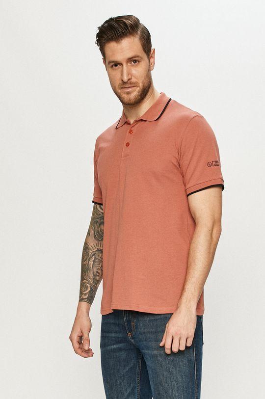 ružovofialová Cross Jeans - Polo tričko Pánsky