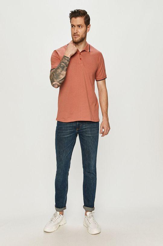 Cross Jeans - Polo tričko ružovofialová