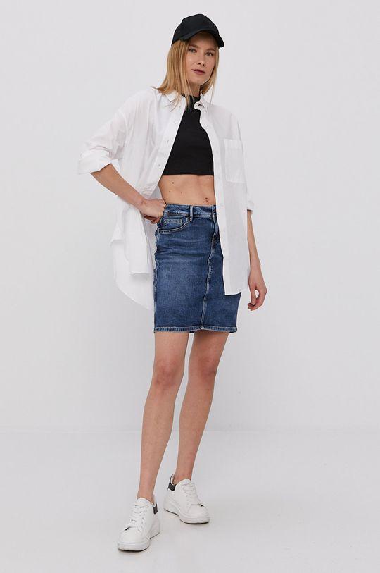 Cross Jeans - Spódnica jeansowa niebieski