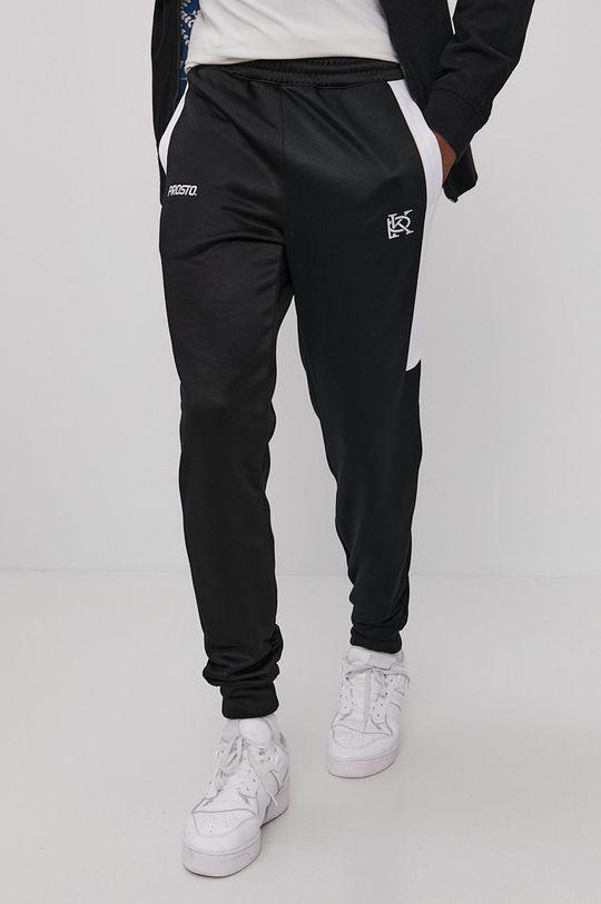 czarny Prosto - Spodnie Męski